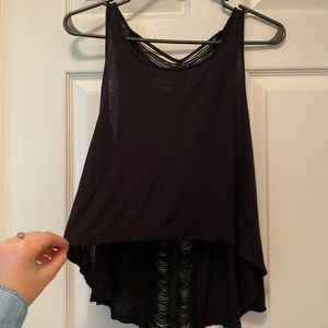 Black crop top with cool design on back